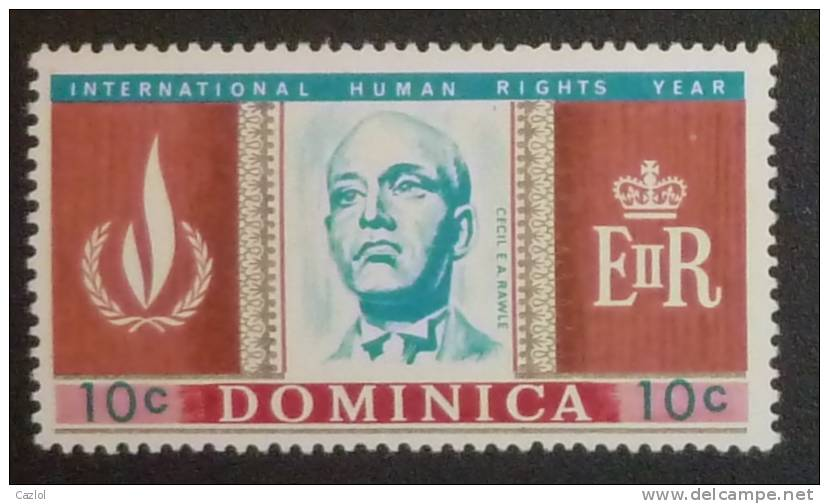 Cecil E A Rawle 1968 Stamp [Dominica] Year of International Human Rights