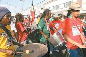 The pride of pan in Point Fortin, Jah Roots. Photo: TONY HOWELL